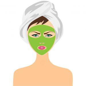 Gesichtsmaske gegen Akne, Pickel und Mitesser